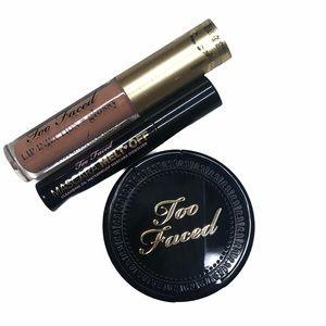 Too Faced Makeup Mascara Lip Gloss Bronzer Bundle